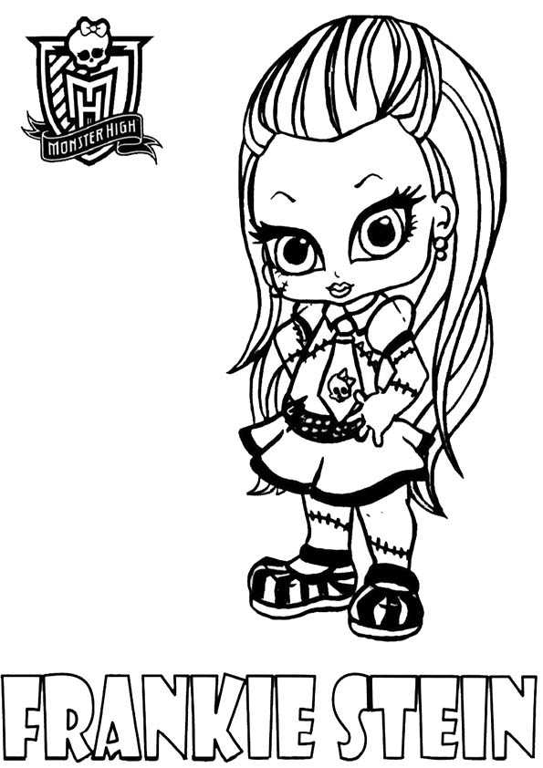 Ausmalbilder frankie stein baby monster high