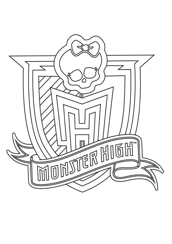 Schild monster high ausmalen