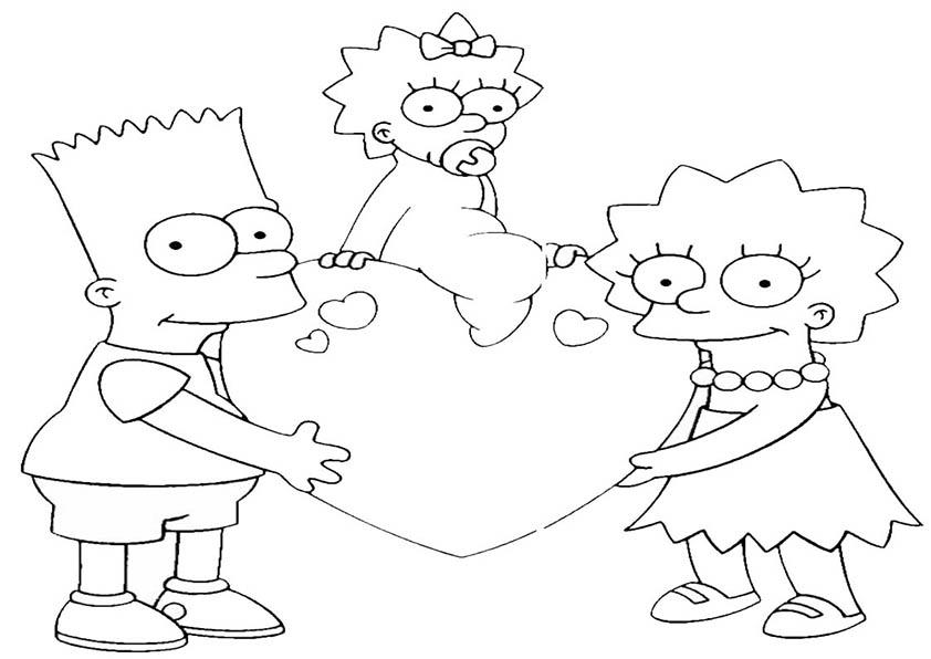 Ausmalbilder Malvorlagen Simpsons 10 Ausmalbilder