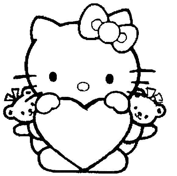 malvorlagen gratis hello kitty
