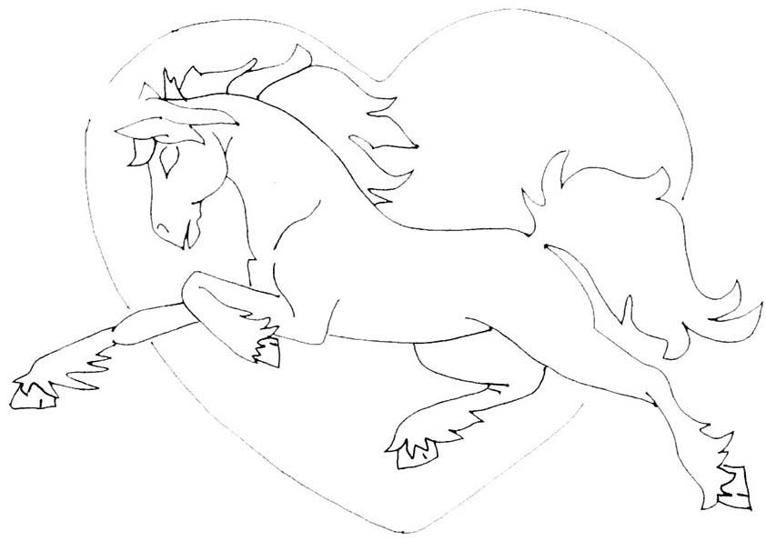ausmalbilder malvorlagen ausmalen  pferde26