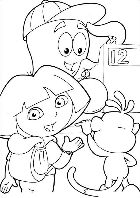 Ausmalbilder- Malvorlagen-Dora-31