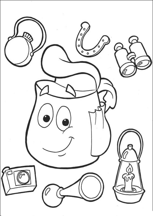 Ausmalbilder- Malvorlagen-Dora-34