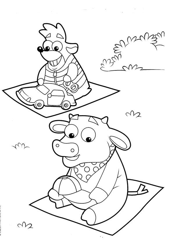 Ausmalbilder- Malvorlagen-Dora