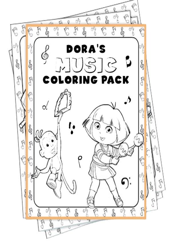 Ausmalbilder- Malvorlagen-Dora-48