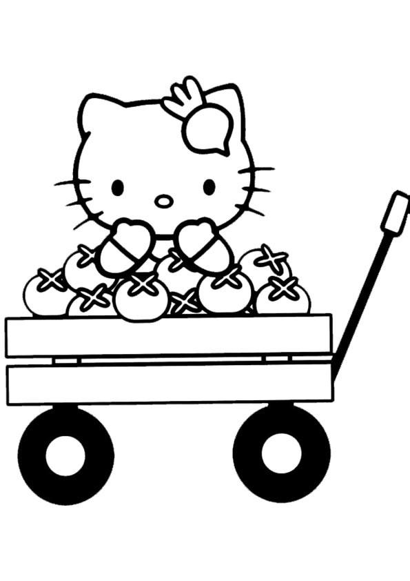 Malvorlagen-Ausmalbilder, Hello Kitty-23