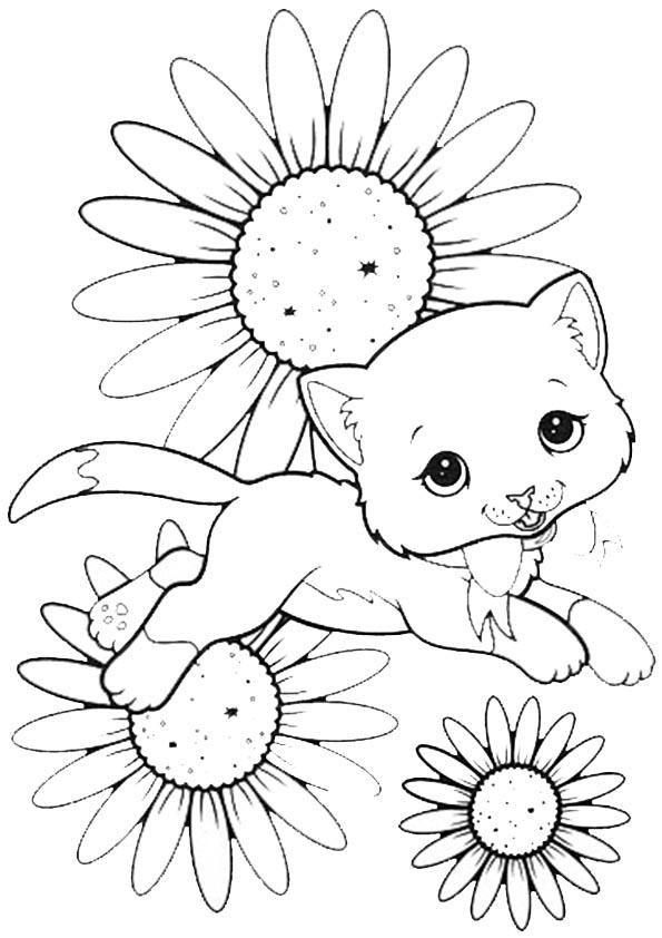 Ausmalbilder- Malvorlagen- Katzen 31