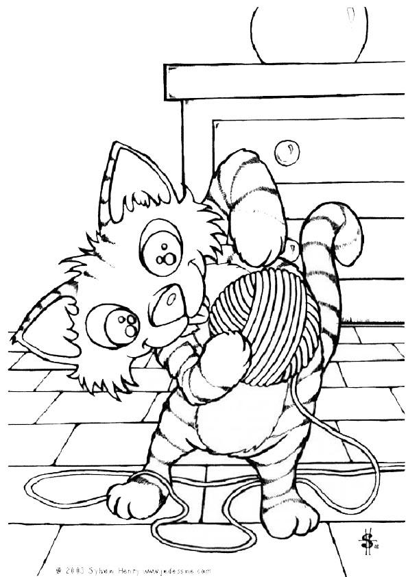 Ausmalbilder- Malvorlagen-Katzen-43