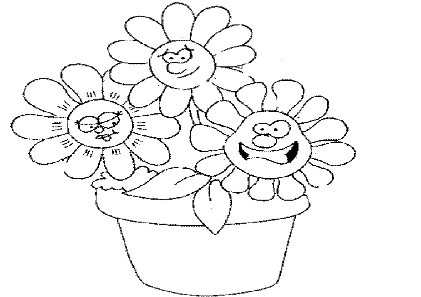 Ausmalbilder Blumen 4