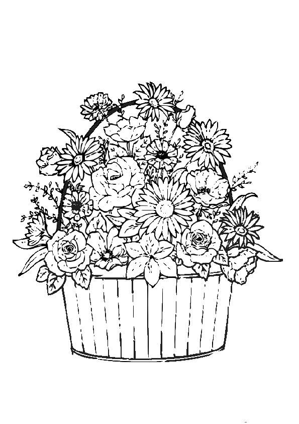 Ausmalbilder Blumen 5