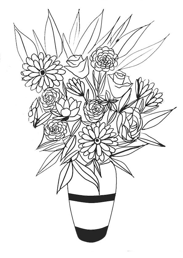 Ausmalbilder Blumen 6