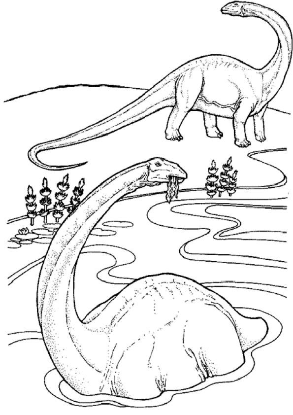 Ausmalbilder Dinosaurier 2