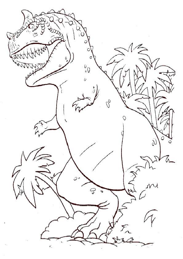 Ausmalbilder Dinosaurier 9