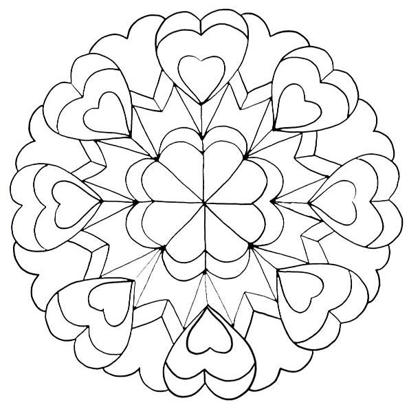 Ausmalbilder Mandala,Malvorlagen von Mandala