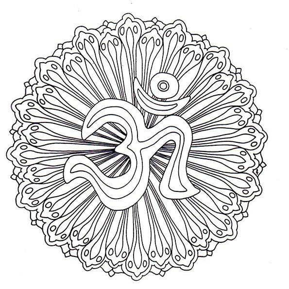 Ausmalbilder Mandala 15