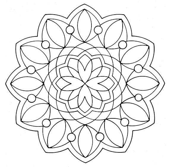 Ausmalbilder Mandala 17
