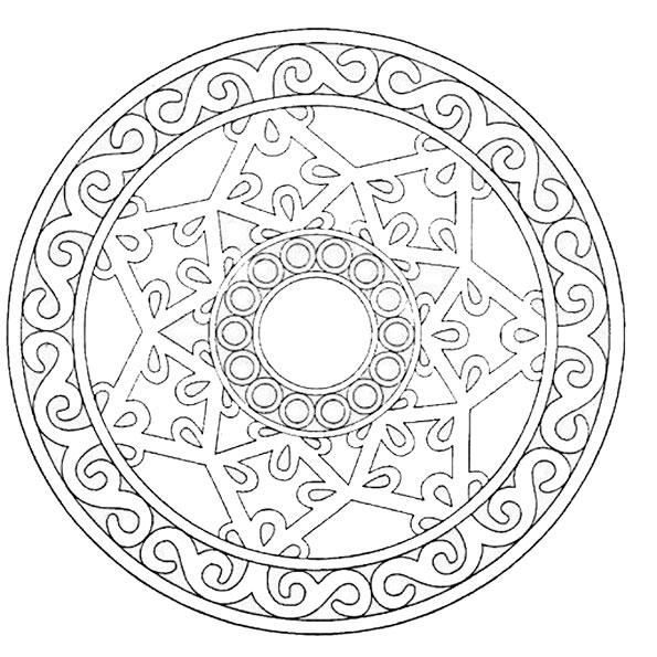 Ausmalbilder Mandala 18