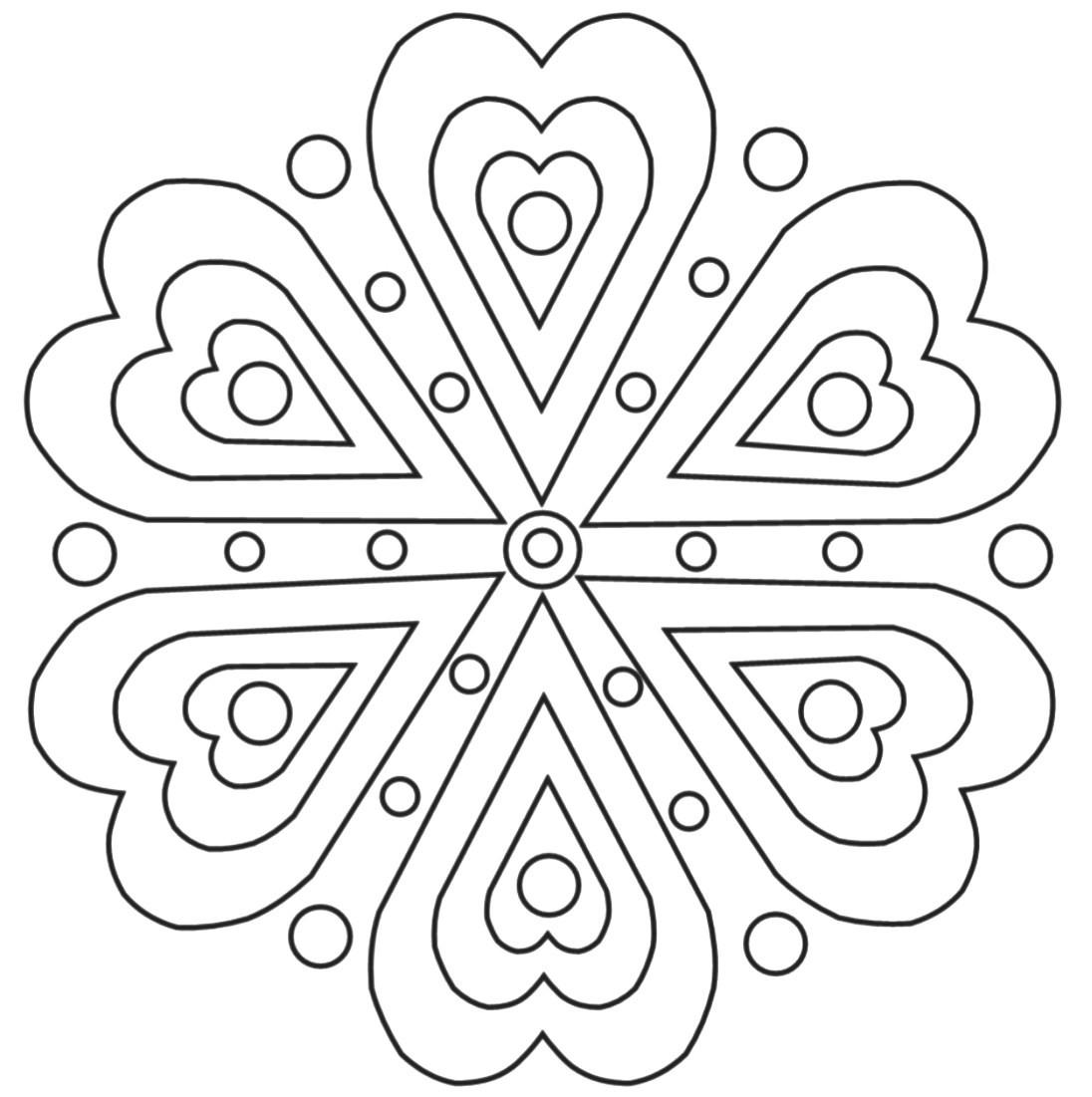 Ausmalbilder Mandala 19