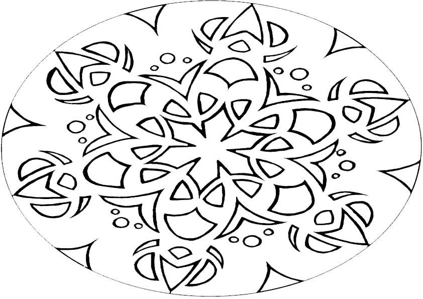 Ausmalbilder Mandala 2