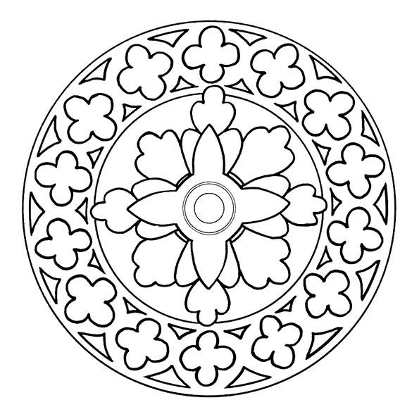 Ausmalbilder Mandala 29