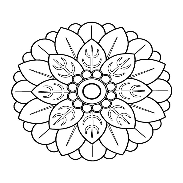 Ausmalbilder Mandala 7
