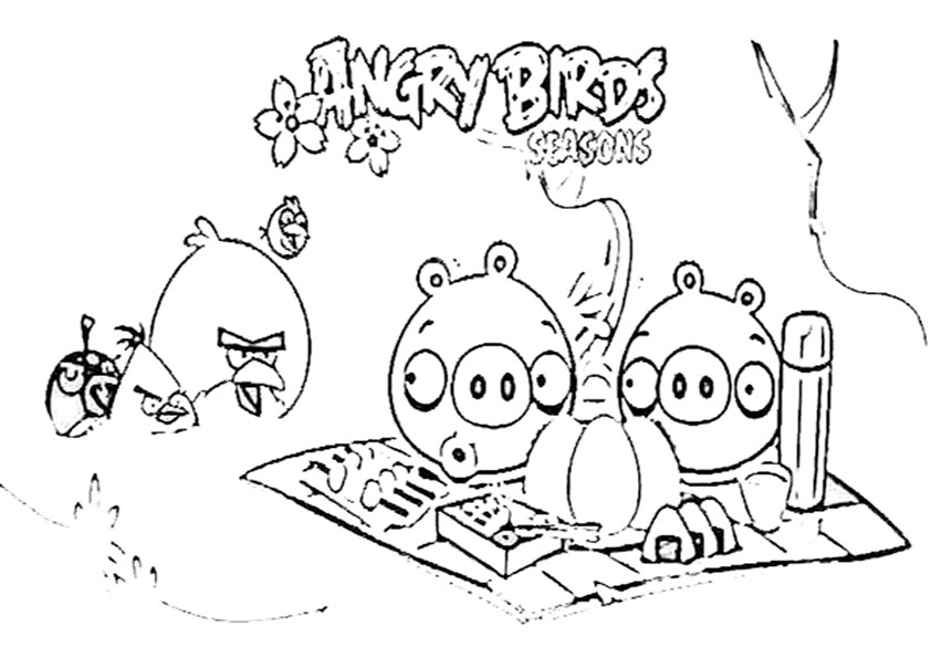Malvorlagen Angry-birds | Ausmalbilder Malvorlagen