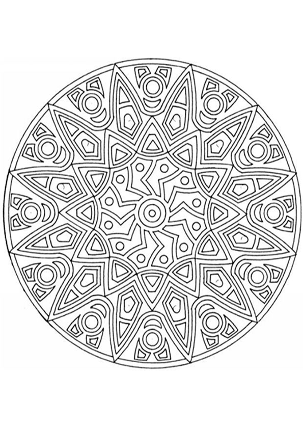 Ausmalbilder-Mandala40