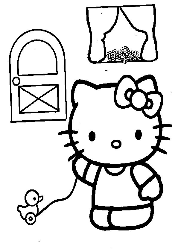 Ausmalbilder  Hello Kitty 42