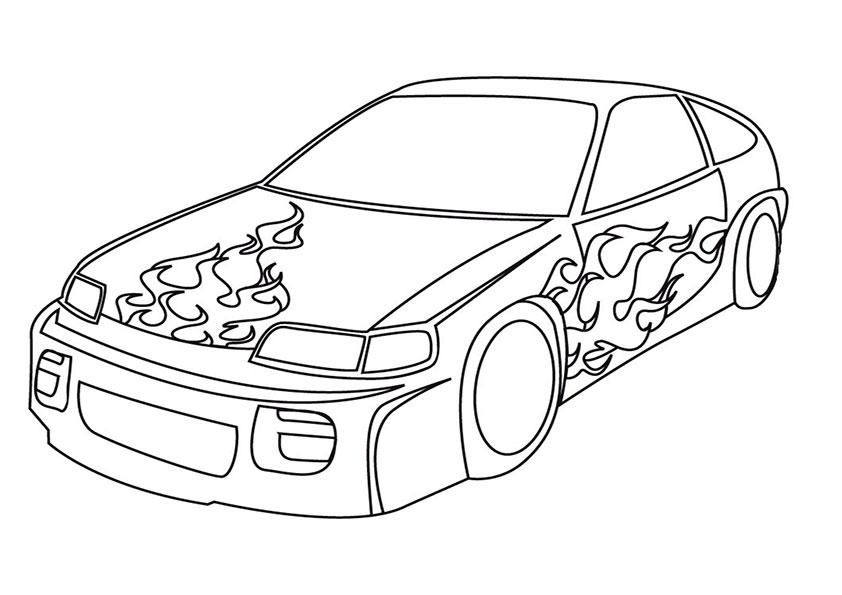 Auto Bilder Zum Ausmalen Newtemp