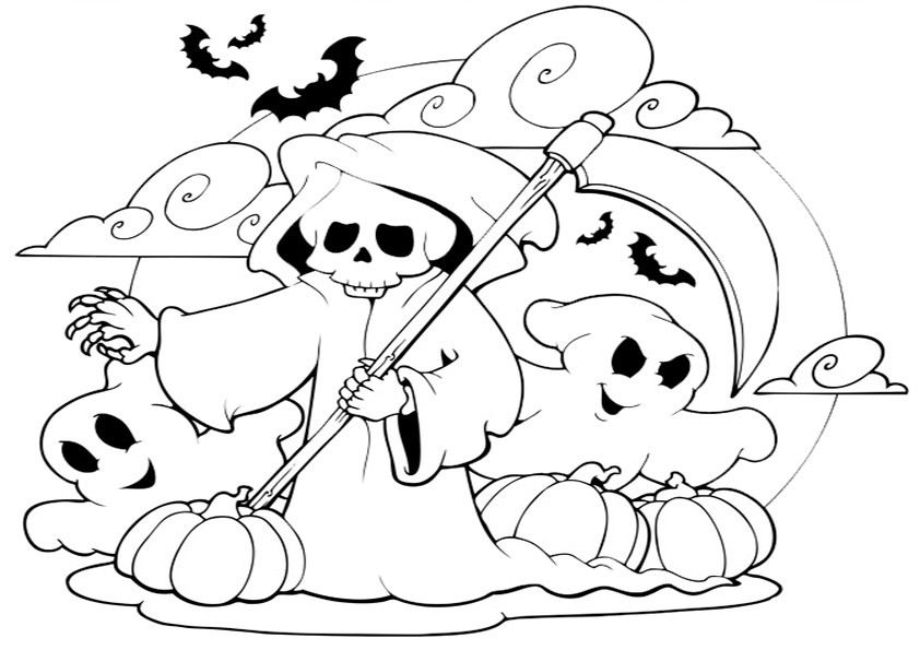 Ausmalbilder Halloween-17 | Ausmalbilder Malvorlagen