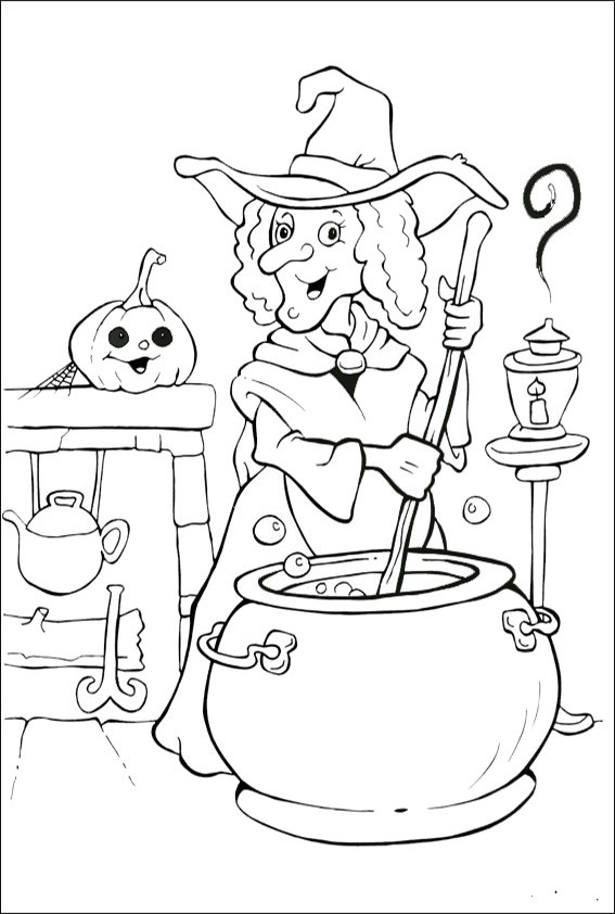 Ausmalbilder Halloween-33 | Ausmalbilder Malvorlagen