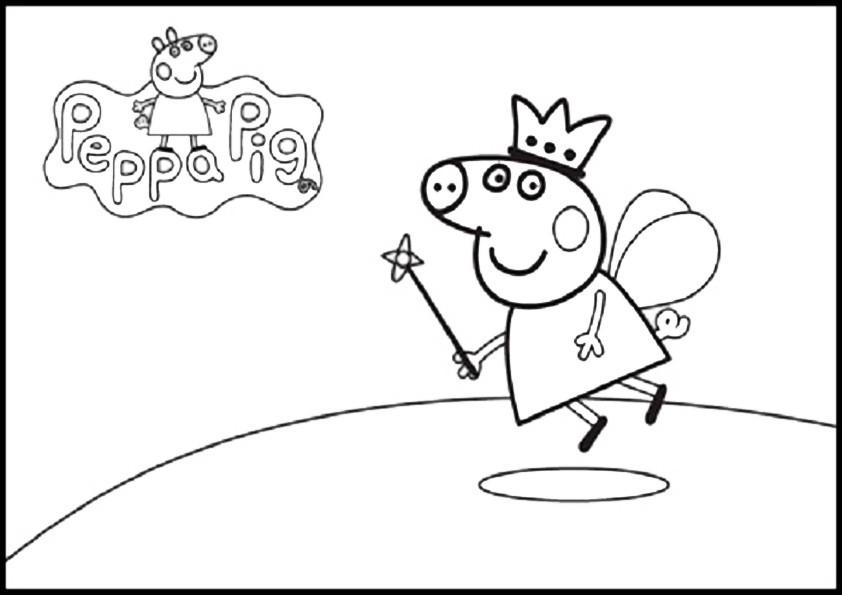 Ausmalbilder Peppa Pig-13 | Ausmalbilder Malvorlagen
