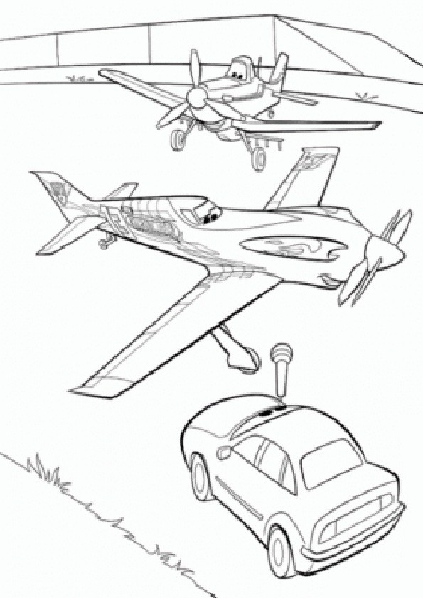 Ausmalbilder Planes-6