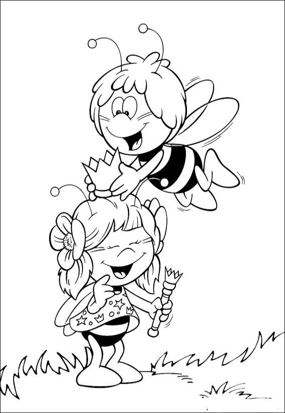 Ausmalbilder Biene maja-2