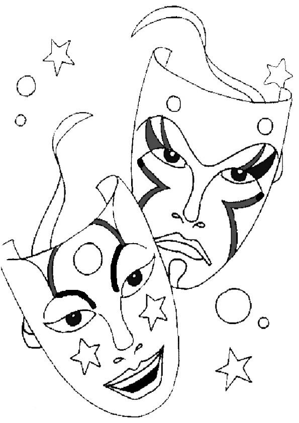 ausmalbilder karneval-12