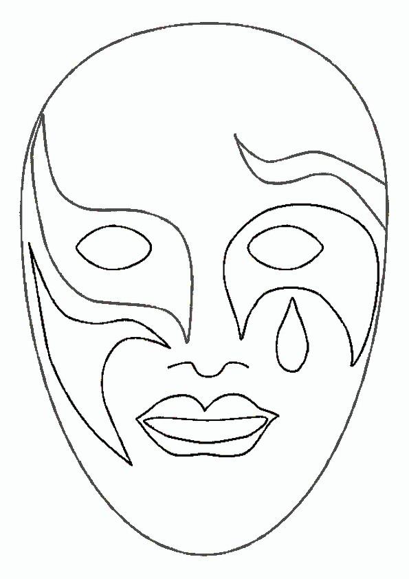 ausmalbilder masken -26