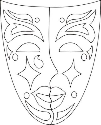 ausmalbilder masken-28