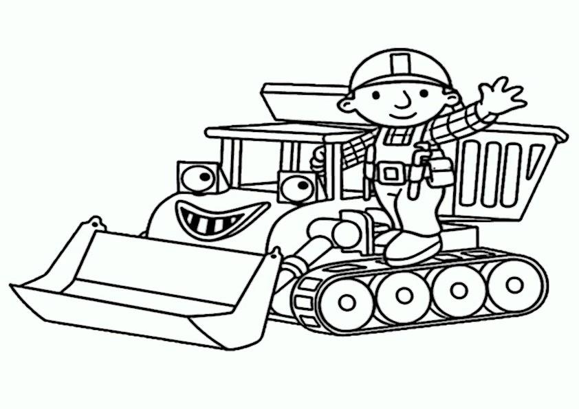 ausmalbilder traktor2  Ausmalbilder und Basteln mit Kindern