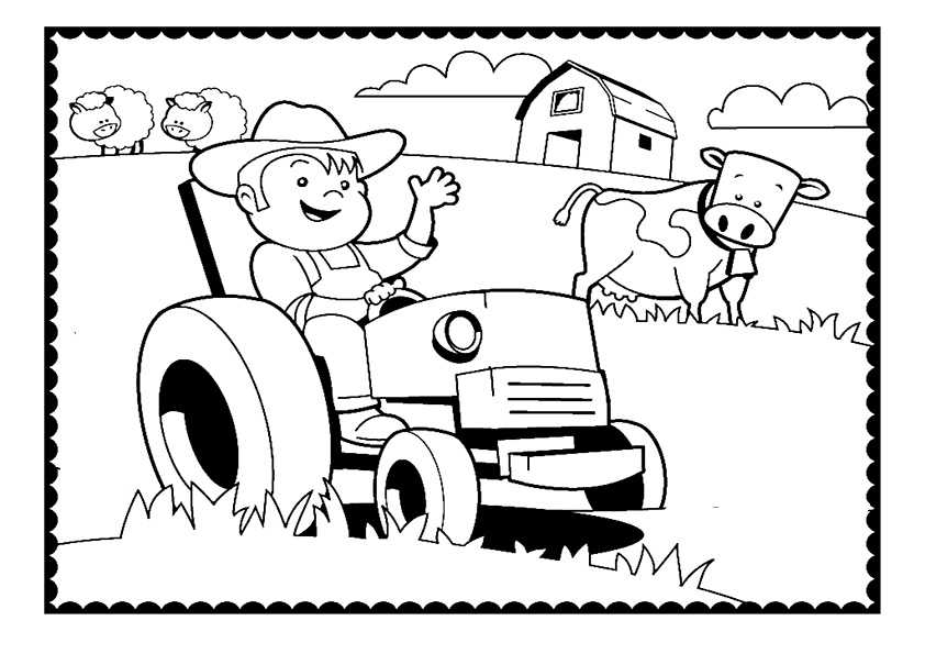 ausmalbilder traktor5 Ausmalbilder