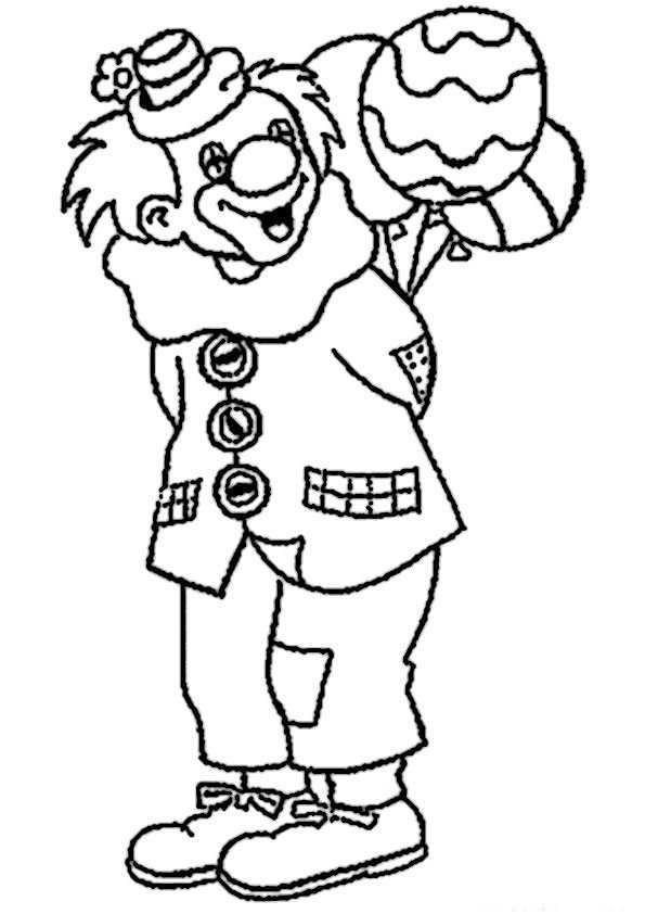 ausmalbilder clown-9