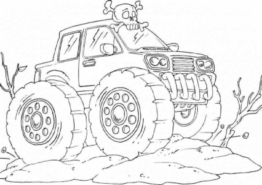 ausmalbilder monster truck -2 | Ausmalbilder Malvorlagen