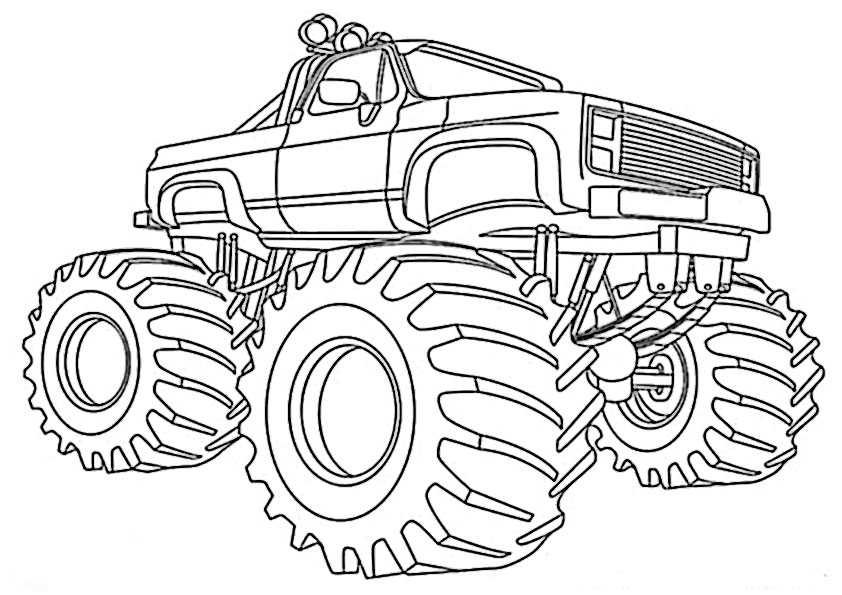 ausmalbilder monster truck -3