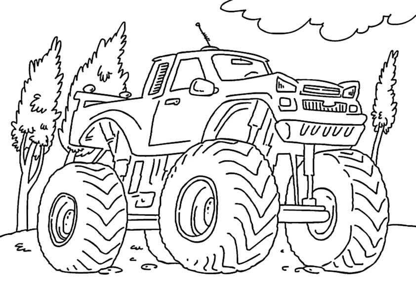 ausmalbilder monster truck -4