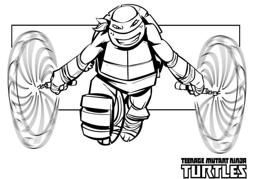 Tmnt Mikey Coloring Pages