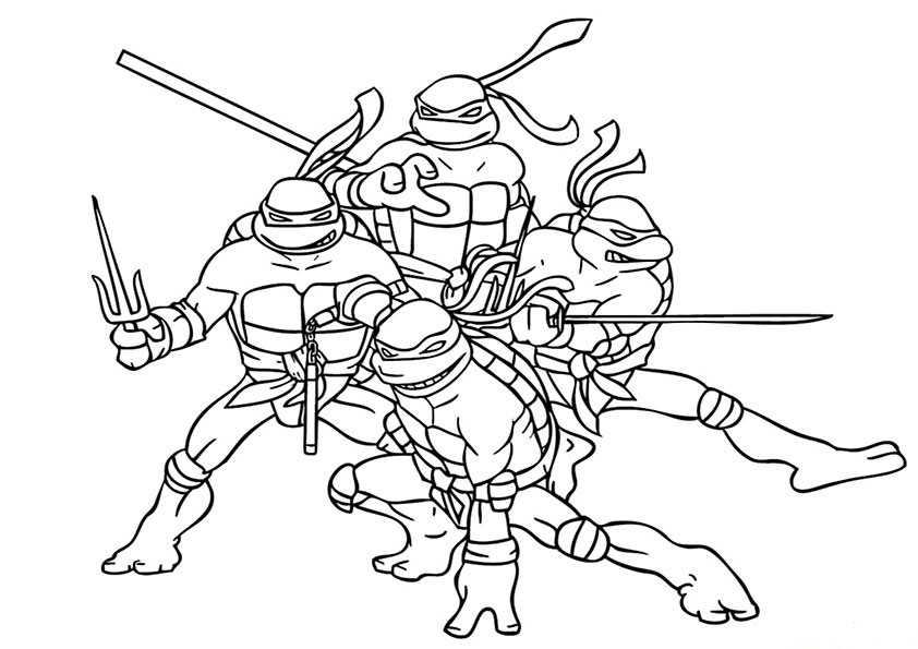 ausmalbilder ninja turtles -8