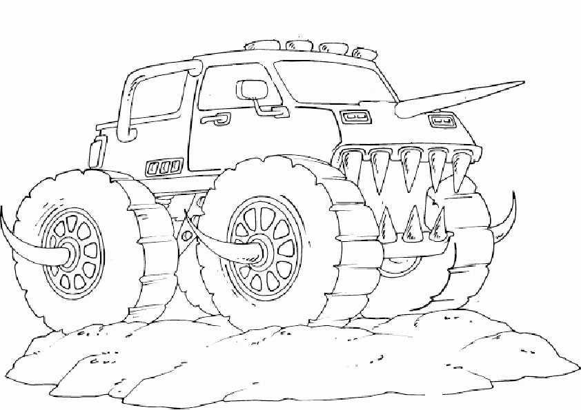 ausmalbilder monster truck -10