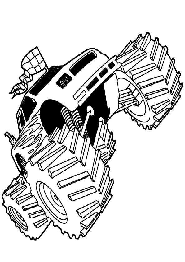 ausmalbilder monster truck -7