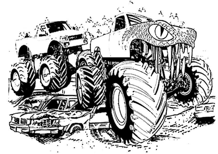 ausmalbilder monster truck -8