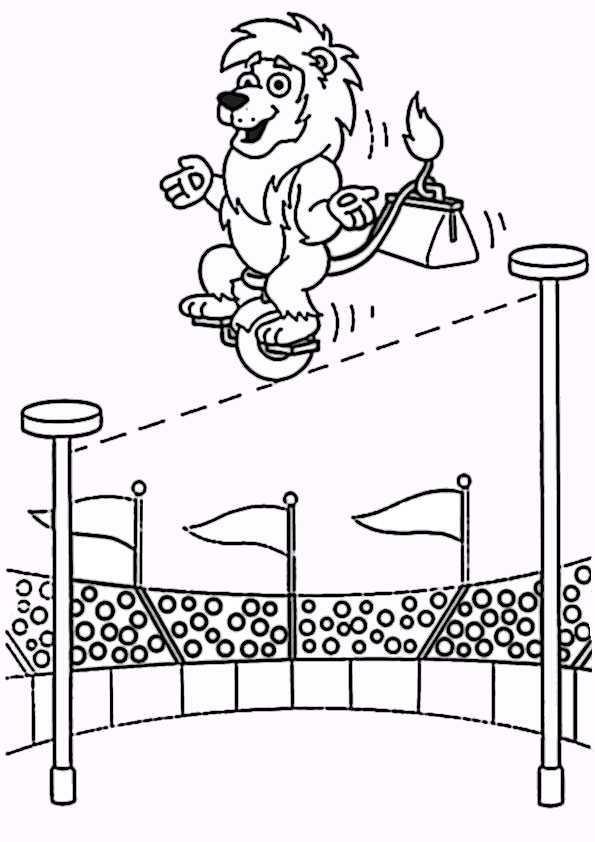 ausmallbilder zirkus 11  ausmalbilder malvorlagen