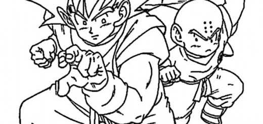 ausmalbilder kinder dragon ball-6